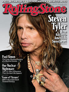 Steven Tyler repping OneMama.org on the cover of Rolling Stone