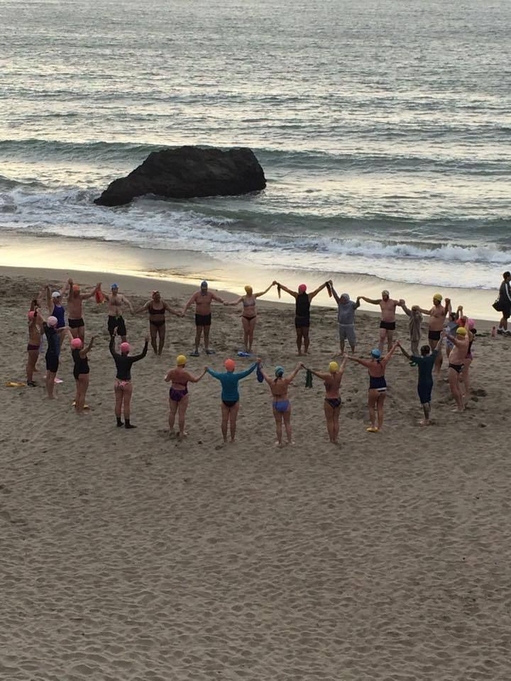 Summer Solstice Sunset Swim Circle of Warriors