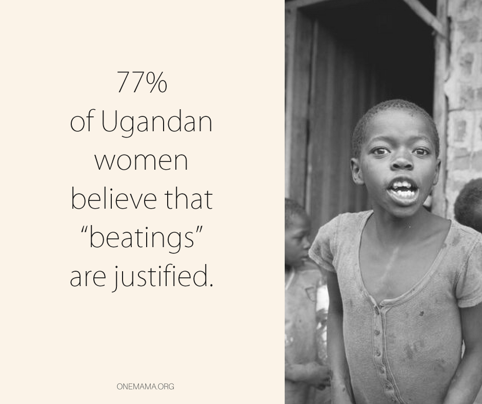 77 percent of Ugandan women belive that beatings are justified